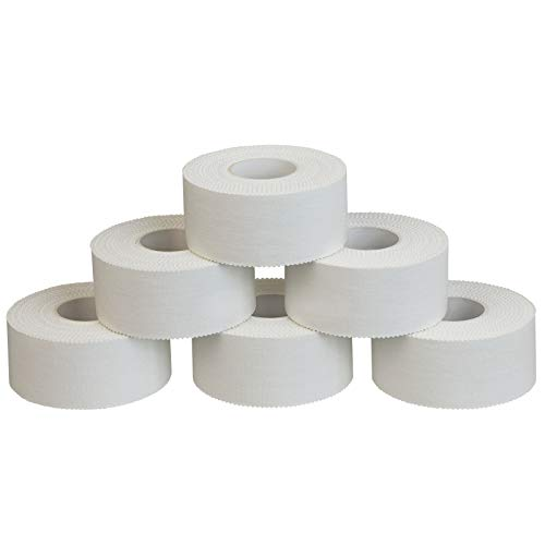 ALPIDEX 6 Rollen Sport Tape Set Fingertape 2,5 cm x 10 m Tapeverband weiß