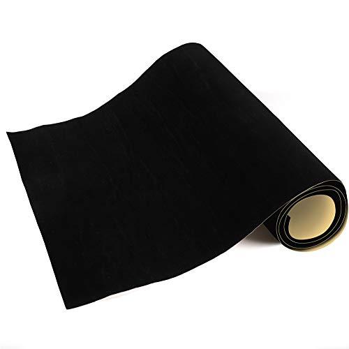 Mesheshe 2PCS Self Adhesive Felt Fabric, Soft Velvet Drawer Liner, DIY Velvet Fabric for Art & Crafts, Jewelry Box Felt Liner, Solid Color Felt Wallpaper (14.6' x 39.4', Black)