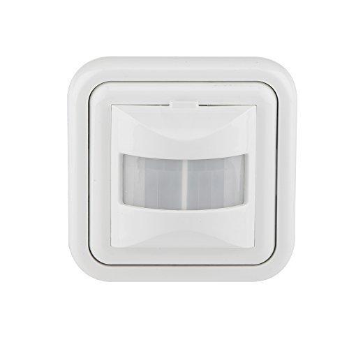 HUBER MOTION 10 up PIR Bewegungsmelder 160° für Innen I Unterputz Bewegungsmelder - Bewegungsmelder für LED geeignet, Automatik, 2/3-Draht-Technik