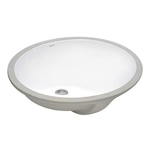 Ruvati 16 x 13 inch Undermount Bathroom Vanity Sink White Oval...