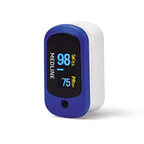 Sale!! Medline Soft-Touch Finger Pulse Oximeter, Small, Lightweight, SpO2, Pulse Rate, Pulse Bar, Pl...