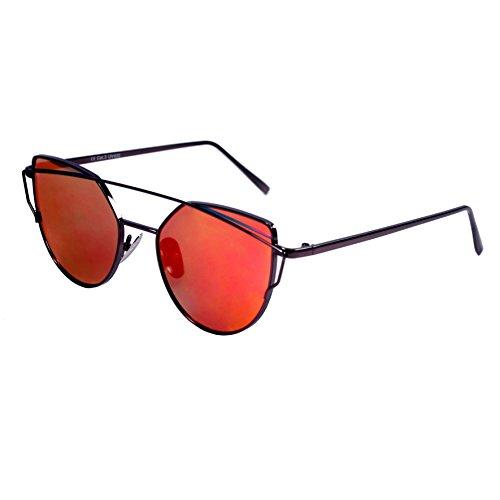 Balinco Gafas de sol con formato de ojos de gato para mujeres Vintage Aviator UV400
