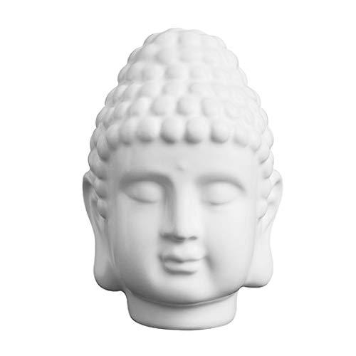 ZY&ZQ Estatua Buda/Cabeza de Buda de Piedra Arenisca decoración del hoga