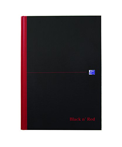 Oxford Black n' Red, gebundenes Buch A4, kariert, Hardcover, schwarz/rot