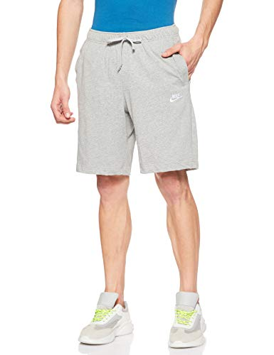 NIKE Club Short JSY Pantalones Cortos, Hombre, Gris (Dk Grey Heather/White), M