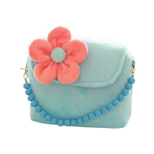 TENDYCOCO Crossbody Coin Purse Flower Mini Messenger Bag Bloemen Leuke Handtas voor Kinderen Peuter Meisjes - Geel