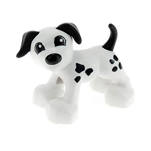 1 x Lego Duplo Tier Hund weiß mit schwarzen Punkten Bauernhof Zoo Zirkus 1396pb03