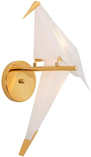 Sconce Wandlamp Heldere LED Wandlamp Papier Kranen Warm Gouden Licht Decoratie Hotel Woonkamer Slaapkamer Hal Trappen 28 * 66cm Wandlampen