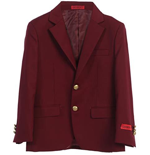 Gioberti Big Boys Formal Burgundy Blazer Jacket, Size 12