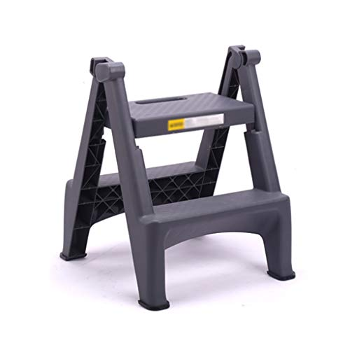 PENGJIE Tritthocker Leiter Hocker 2 Schritt Curver Kunststoff Falten tragbare rutschfeste Matte Schritt kompakt 150 kg Kapazität Trittleiter