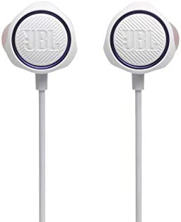 JBL Quantum 50 Wired in Ear Gaming Headphones with Inline Control White product image