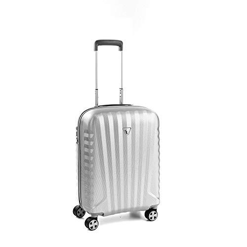 Roncato Carry-On Spinner (S) Hartschalen UNO Zsl Premium 2.0 - Handgepäck cm 55 x 40 x 25 Fassungsvermögen 48 L Leicht Organisierter Innenraum TSA-Schloss Von Easyjet Lufthansa zugelassen