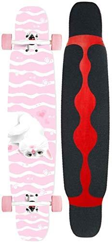 Pro Skateboard Cruiser Penny Brett 46 Zoll Freestyle Longboard Complete Skateboard Tricks Skateboarddecks Brush Street Cruiser for Jugendliche Anfänger Mädchen Jungen Kinder Teens Erwachsene xuwuhz