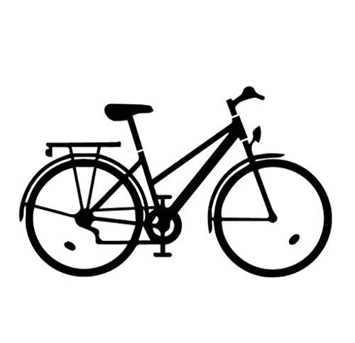 Cbhsjinsuxha 4 Pezzi Adesivi per Auto 15 cm * 9.1 cm Bicicletta Ciclista Bici Decalcomania del Vinile Decorazione Delicata Adesivo per Auto