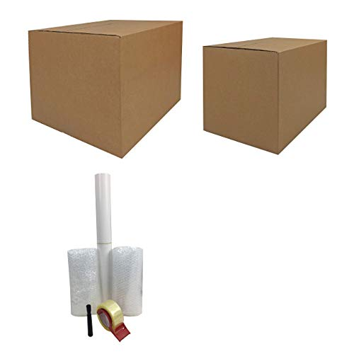 uBoxes Moving Supplies - 1 Room Basic Kit -18 Moving Boxes, Bubble, Tape