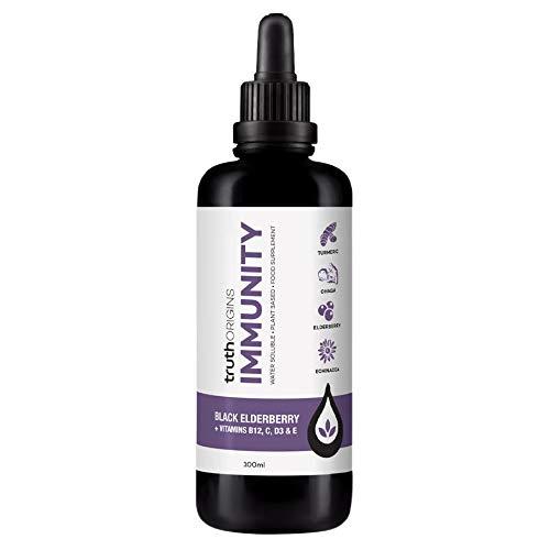 Truth Origins Immunity Vitamin C D3 Elderberry Turmeric Dropper