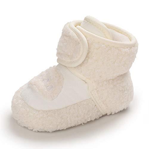 Botas Bebe Niño Niña Invierno Botines Botitas Bebé Recién Nacido Calentar Zapatillas Casa Zapatos Primeros Pasos Blanco 6-12 Meses Talla 19