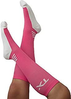 TX Athletic Compression Socks 20-30 mmHg Graduated Support for Men and Women - Moisture Wicking Cool Comfort - Cushioned Soles - for Runners, Nurses, Diabetics & Improves Circulation
