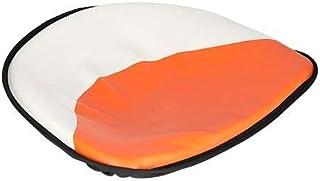 """All States Ag Parts Parts A.S.A.P. Pan Seat 21"""" Deluxe Cushion Vinyl White & Orange Allis Chalmers CA D17 B D21 D19 D12 D14 D10 WD45 C G D15 WC WD"""