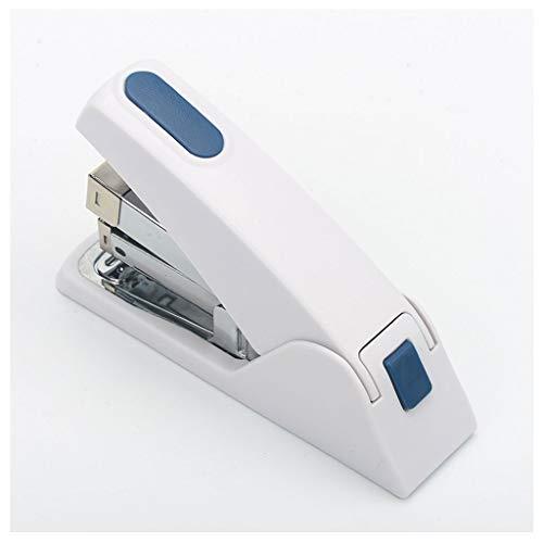 XIAOSAKU Grapadoras para Escritorio Escritorio Grapadora,Grapadora metálica Duradera,de 50 páginas Capacidad,Blanco,Multi-función,de un Solo Dedo de Contacto Grapadora,Oficina Grapadoras Manuales