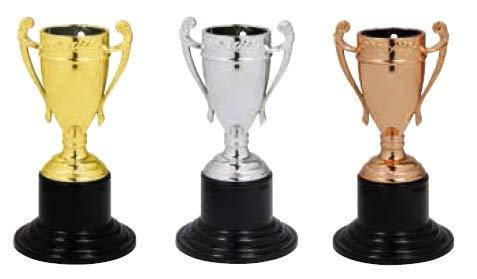 S.B.J - Sportland Kinder Pokal | Mini Pokal | Party Pokal auch als Medaille verwendbar, Größe 10 cm, Silber