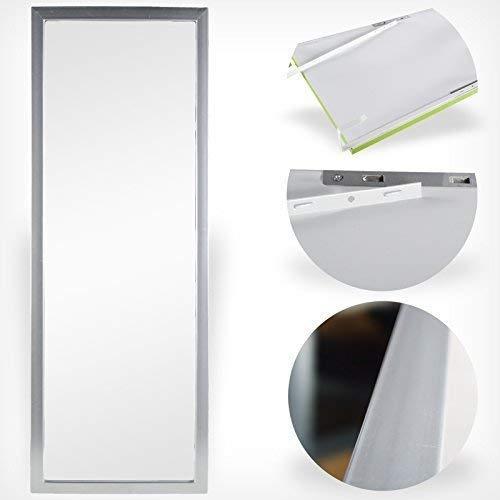 DRULINE Türspiegel Tür Spiegel Hängespiegel Rahmenspiegel 35x95cm schwarz weiss (grau)