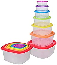 Kitchen Storage Containers – Set of 6 Pantry Kitchen Organizer Containers with Lids – Perfect for Cereal, Flour or Sugar S...