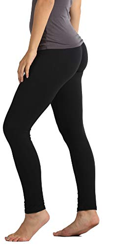 Buttery-Soft Printed Leggings for Women 100+ Prints and Solids in Regular and Plus Size - Solid Black - One Size