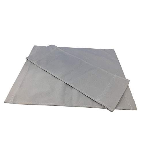 Fenteer Toile Dossier Assise Tissu pour Chaise Pliante Croisée Siège - Gris