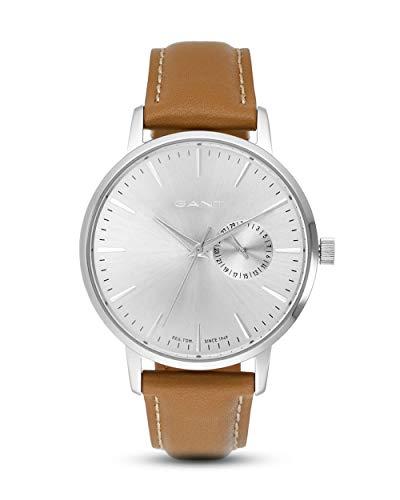 Gant Unisex Erwachsene Analog Quarz Uhr mit Leder Armband W109225