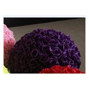 Silk Flower Arrangements Artificial and Dried Flower Rose Head Diameter 7-8cm Artificial Flowers Silk Camellia Rose Head100p Artificial Silk Camellia Rose Flower Head FB003 - ( Color: Dark Purple )