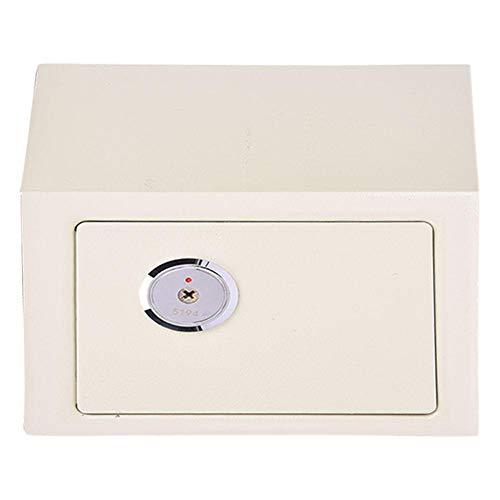 Asixxsix Gabinete de Seguridad, gabinete Seguro de Acero de aleación de 4.6L, Mini hogar Resistente de Alta Seguridad Beige para Oficina en casa