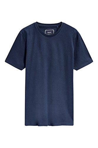 next Herren T-Shirt Mit Rundhalsausschnitt– Regular Fit Marineblau L