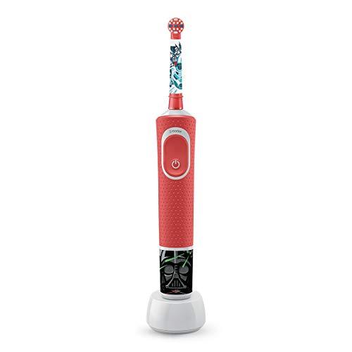 Oral-B Kids Star Wars Special Edition Elektrische tandenborstel, met Disney-stickers en gratis Star Wars reisetui, voor kinderen vanaf 3 jaar, rood