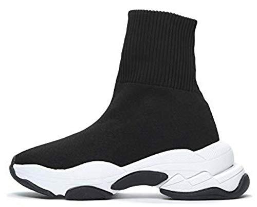 Jeffrey Campbell TEKNO Sock Sneakers Scarpe Donna Calze Nere (38 EU)