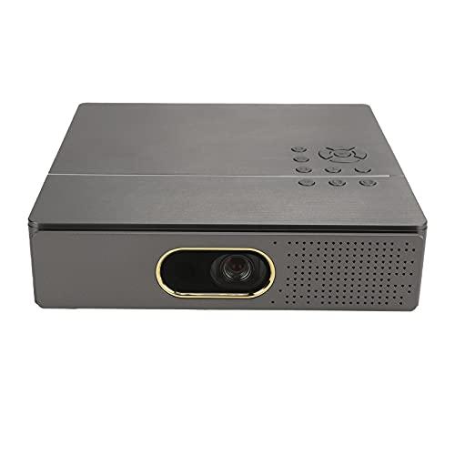 Proyector HD 1080P, 1920x1080P, 4K, Soportes de Proyector Inteligente WiFi para Miracast y EShare, Proyector de Música de Bajos Fuertes, para Juegos, Videos,Camping, Películas al Aire Libre(gris)