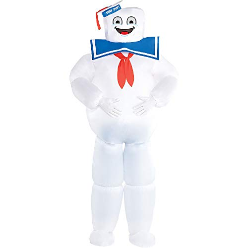 Party City Inflatable Stay Puft Marshmallow Man Halloween Costume for Adults, 2 Sizes