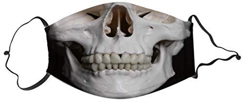 ERFURTH FUN Mund-Nase-Maske Skelett Aufdruck 11 cm x 16 cm