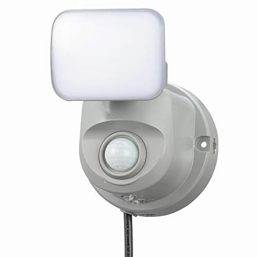 オーム電機(Ohm Electric) センサーライト OSE-LS400 セキュリティ グレー 本体: 奥行11.6cm 本体: 高さ13.3cm 本体: 幅10cm
