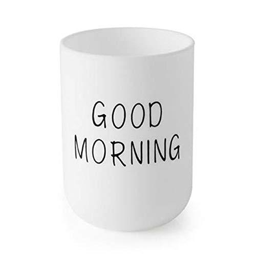 Tazas Personalizadas Taza De Inodoro Portátil De Viaje Nórdico Simple, Juego De Baño, Soporte De Cepillo De Dientes De Plástico, Taza De Almacenamiento De Cepillo De Dientes De Buenos Días