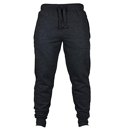 N\P Mens Casual Pants Fitness Men Sportswear Tracksuit Bottoms Skinny Grey