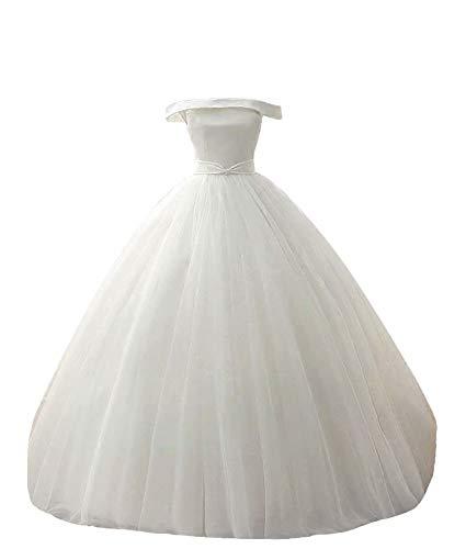 Silk Off the Shoulder Ballgown Wedding Dress