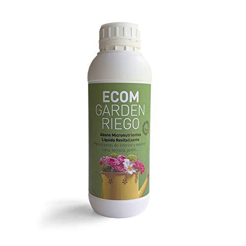 ECOM Garden RIEGO Abono Micronutrientes Líquido Revitalizante. Concentrado1L, Producción Limitada.