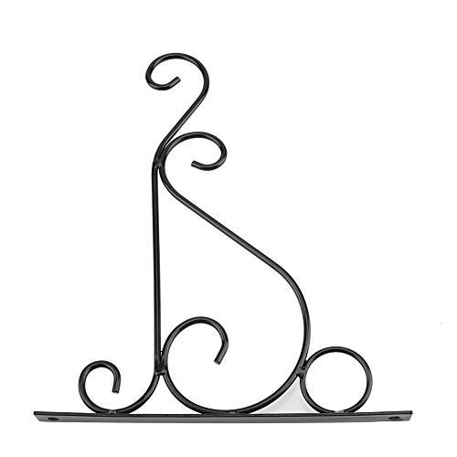 Utility Plant Hanging Bracket - Bügelhalter für Eisenpflanzen Wandhalterung Blumenhaken für Hausgarten Dekoration 30 * 21cm(Schwarz)