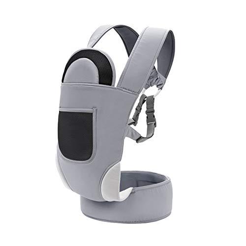HWZZ 인체공학적 베이비 캐리어 캥거루 코튼 힙합 시트 퓨어 코튼은 신생아용 가볍고 호흡 가능한 랩 호흡식 슬링 백팩 그레이