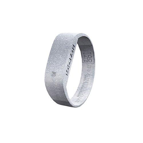 too 2 late Unisex Erwachsene Analog-Digital Uhr mit Silikon Armband LED Glitter Silver S