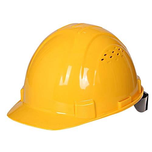 LYFHMP Antikollisions-Männer und Frauen, die Schutzhelm, Straßenwartungs-Luftarbeits-Sturzhelm-Schutzhelm errichten (Color : Yellow)
