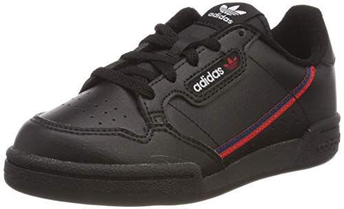 adidas Unisex-Kinder Continental 80 C Sneaker, Schwarz (Negbás/Escarl/Maruni 000), 34 EU