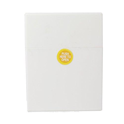 Zigarettenbox Kunststoff mit Rubber (seidige) Oberfläche Zigarettenetui Big Pack Box für ca. 25 Zigaretten mit Push Open Funktion - Clic Boxx (Weiss)