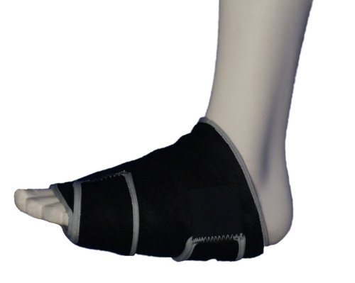 Plantar Fasciitis Ice Pack + Compression, Stops Heel Pain Fast. Icing Recommended by Orth MDS as Safe and Effective Treatment. Universal Size. Reusable. Made in USA.